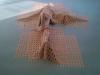 plastic and plaster  2m x 2m